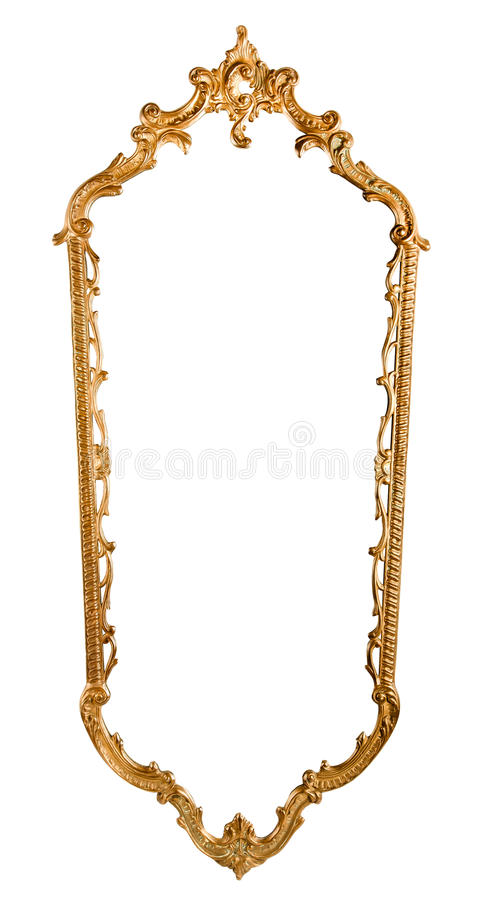 Hand-made mirror frame stock image