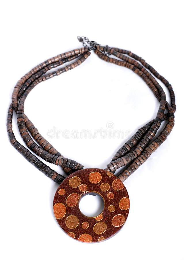 Hand made necklace stock photos
