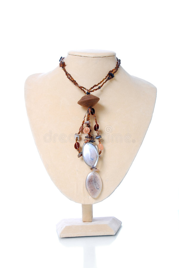 Hand made necklace royalty free stock photo