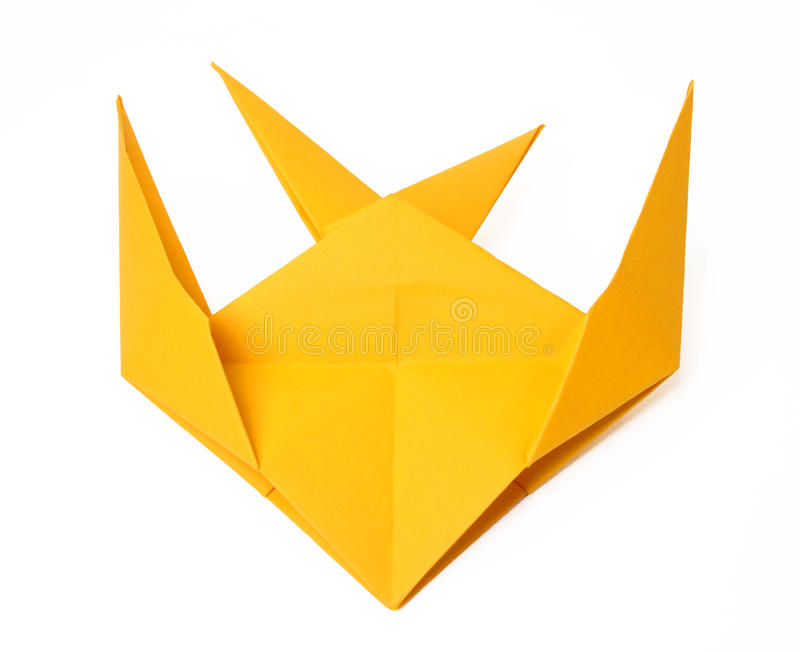 Hand made origami swallow royalty free stock photo