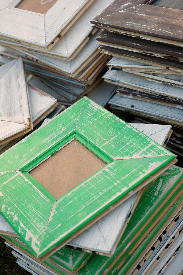 Hand made retro picture frames royalty free stock images
