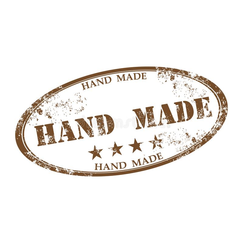 Hand made rubber stamp royalty free illustration