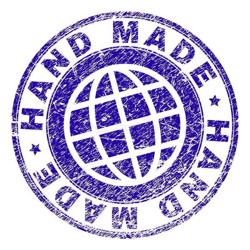 Scratched Textured HAND MADE Stamp Seal vector illustration
