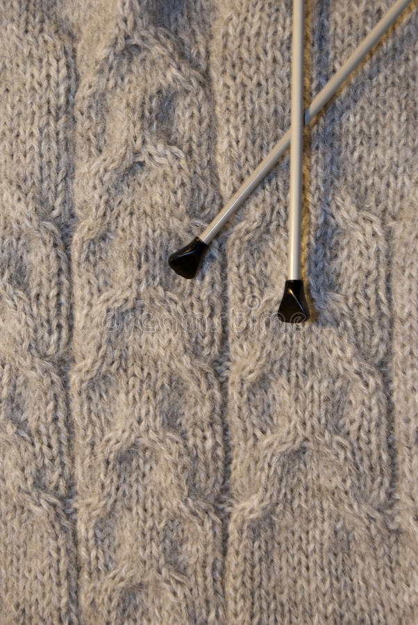 Download Hand made sweater stock photo. Image of wool, needles - 17381722
