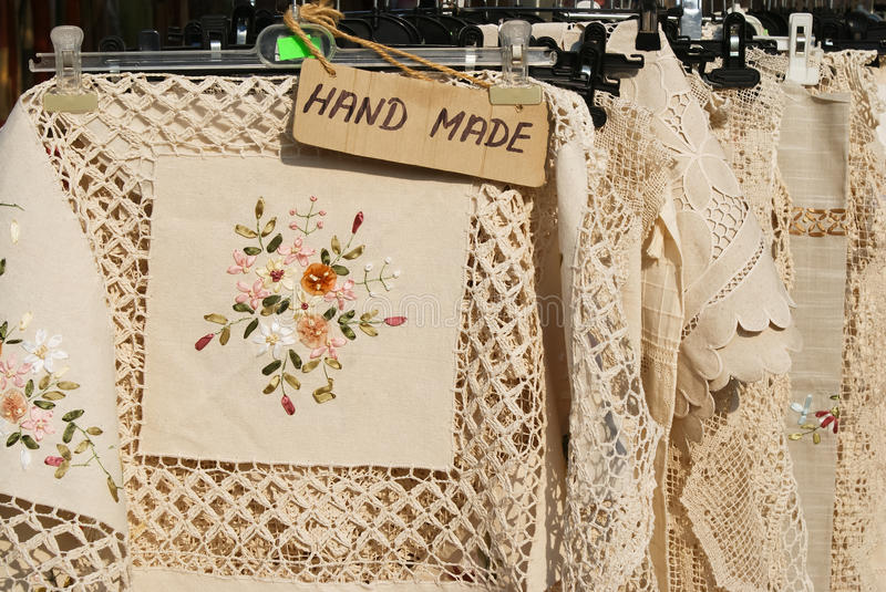 Download Hand made table cloths stock image. Image of hand, needle - 21068995