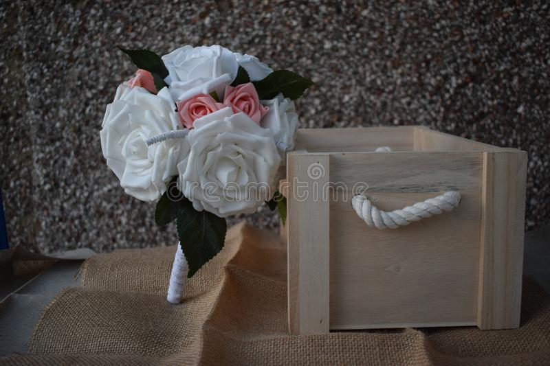 A hand made and tied posy is a fairly tightly formed bouquet, perfect for a bride who likes simple clean lines with minimal fuss. royalty free stock photography