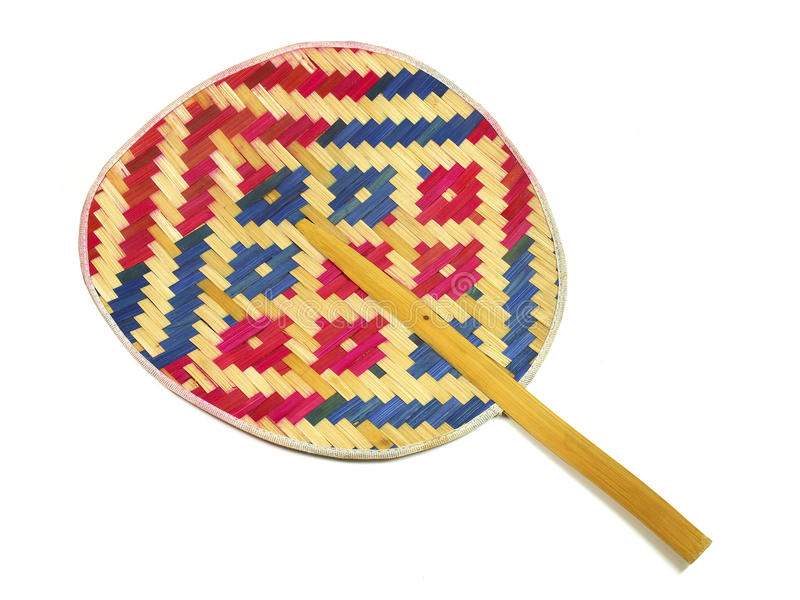 Download Hand Made Weave Colorful Thai Fan Stock Photo - Image of cooling, colorful: 27605854