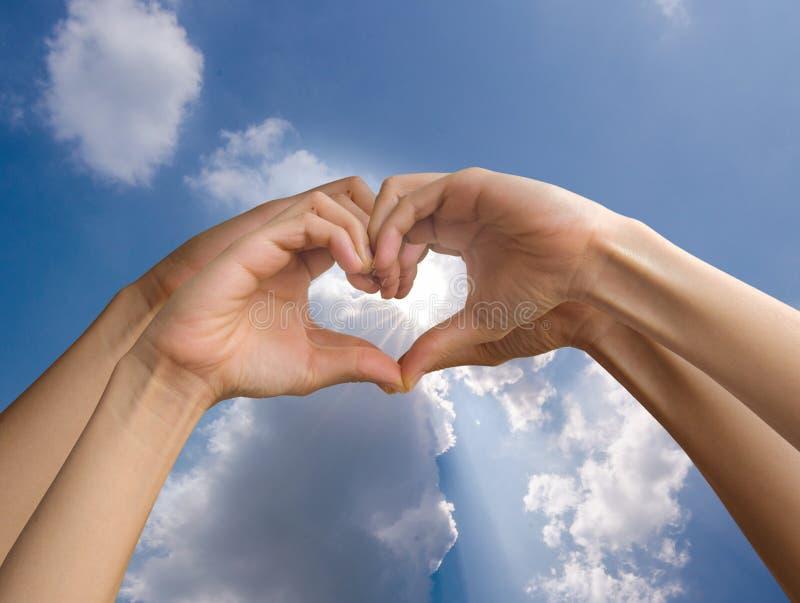 Hand make heart royalty free stock photography