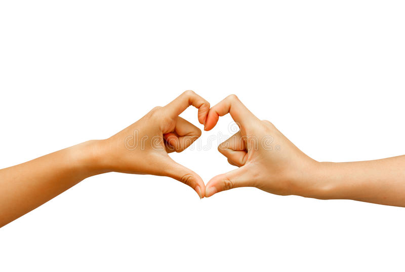 Hand Make A Heart Shape Royalty Free Stock Images