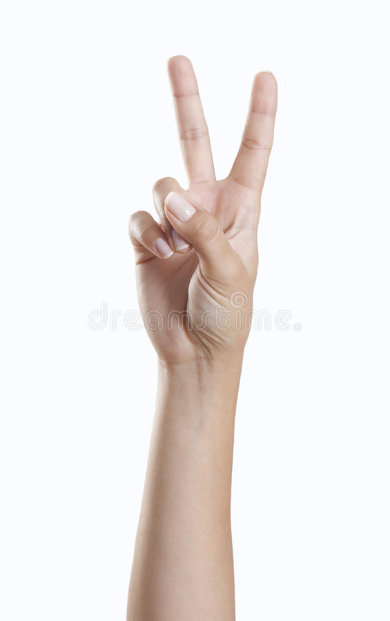 Hand Making Peace Sign Stock Photo Image Of Symbol Number 58037534
