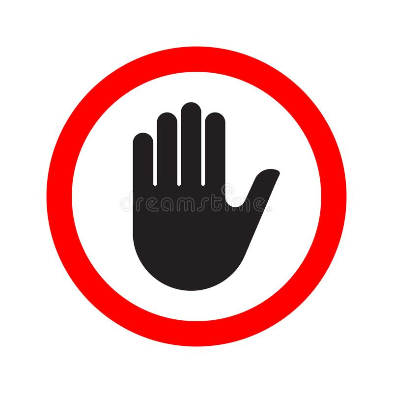 Hand Making A Stop Signal Symbol Stock Vector Illustration Of