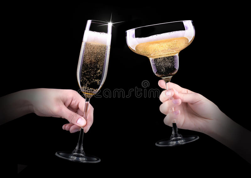Download Hand Making Toast With Champagne Glass Stock Photo - Image: 35839926