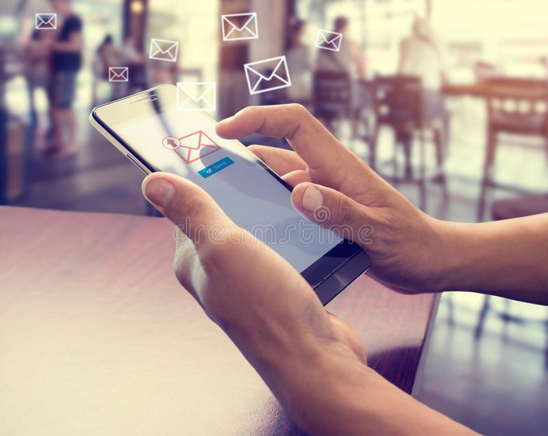 Email marketing concept royalty free stock photography