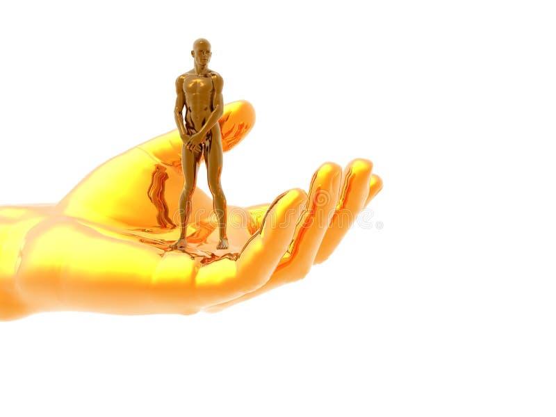 Hand man royalty free illustration