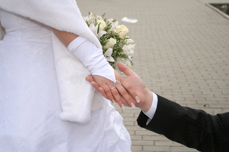 Hand married stock image