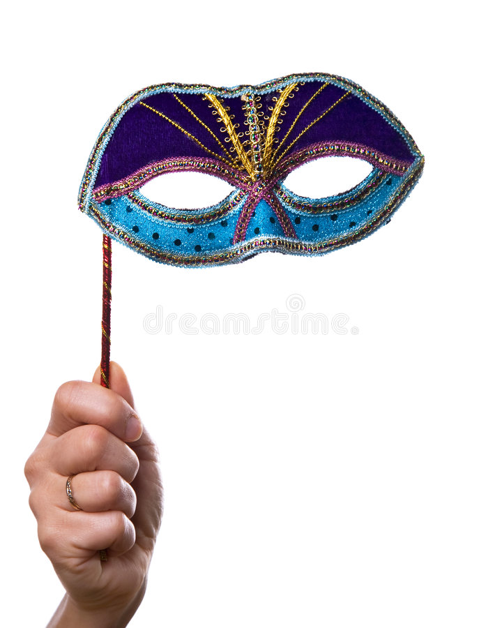 Hand With Mask Stock Photography