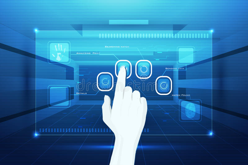 Download Hand Matching Finger Print Stock Image - Image: 18841461