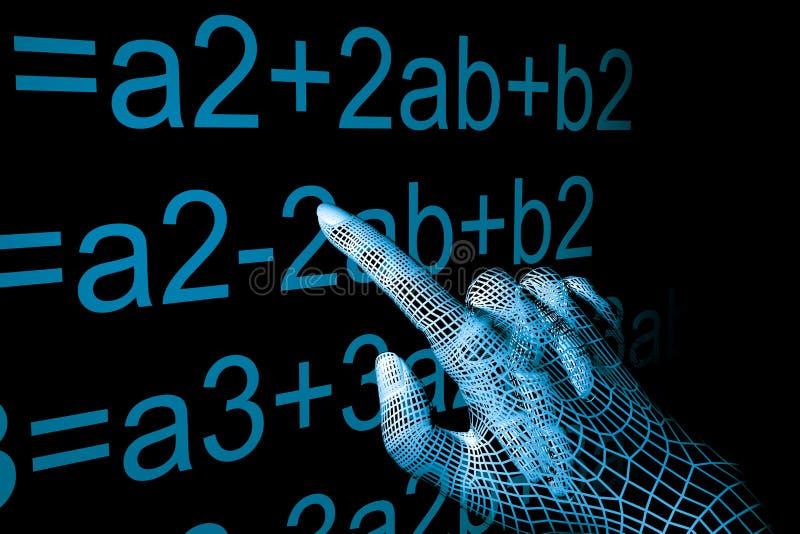 Hand mathemathics vector illustration