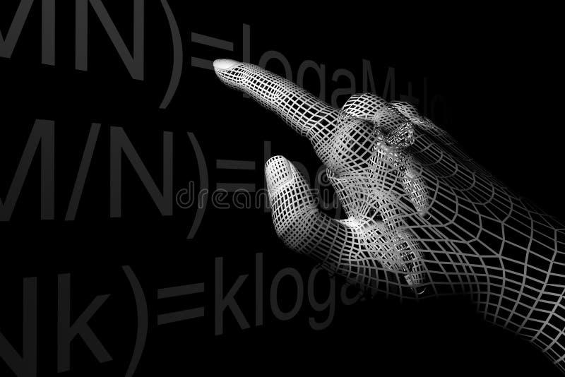 Hand mathemathics stock illustration