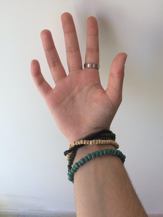 Hand med acessories royaltyfria foton