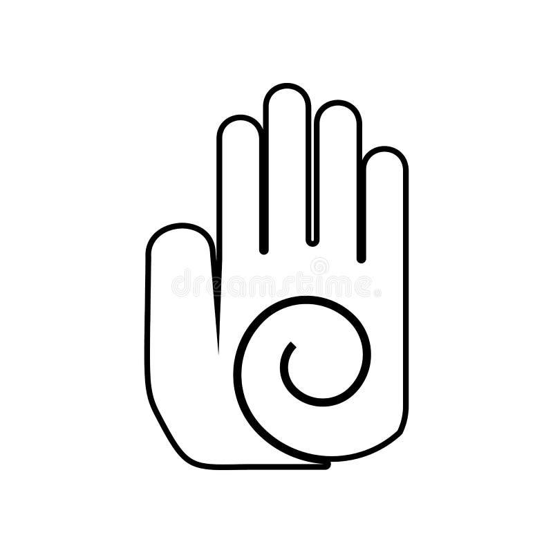 hand med cirkelsymbolen Best?ndsdel av Mexico f?r mobilt begrepp och reng?ringsdukappssymbol ?versikt tunn linje symbol f?r websi stock illustrationer