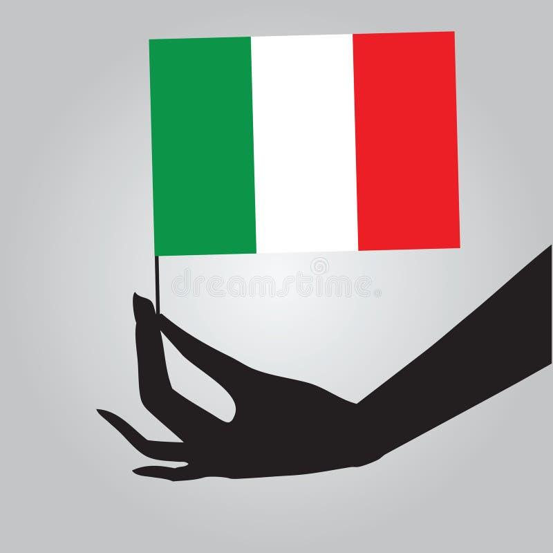 Hand med flaggan Mexico royaltyfri illustrationer
