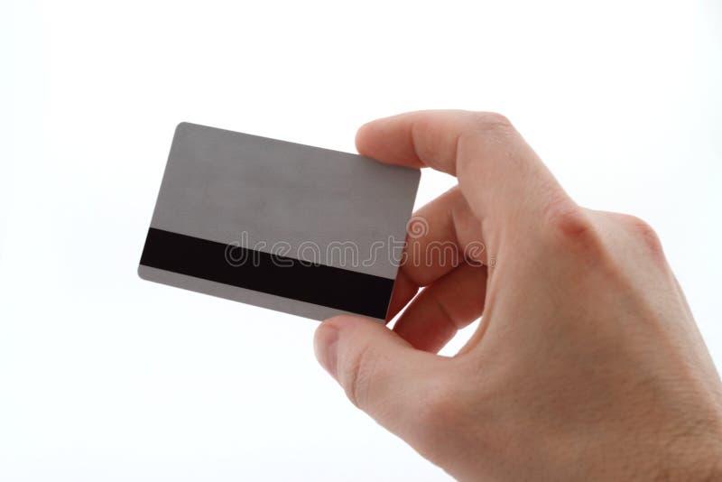 Hand met bankkaart royalty-vrije stock foto's