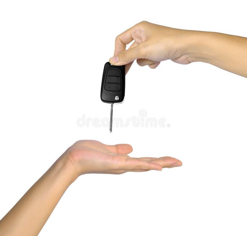 Hand met de Sleutel van de Auto stock afbeelding