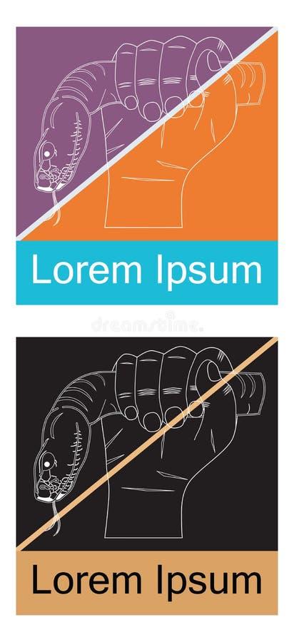 Hand met een slang vector illustratie