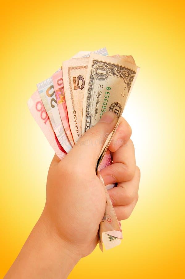 Hand met geld royalty-vrije stock foto's