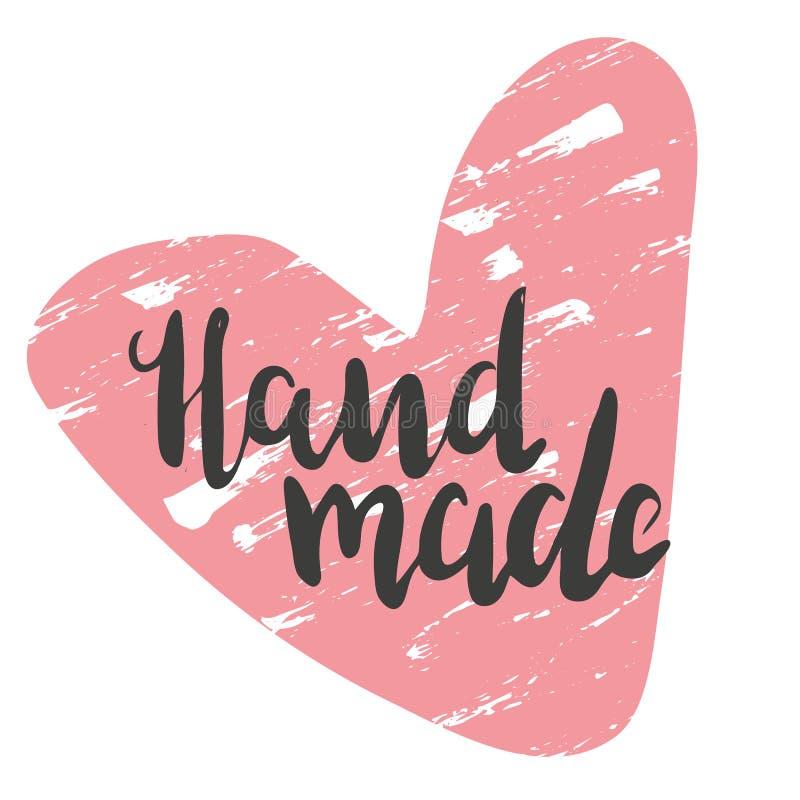 Hand - met hart wordt gemaakt dat vector illustratie