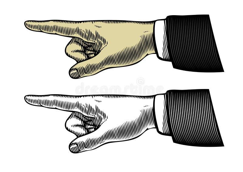 Hand met het richten van vinger