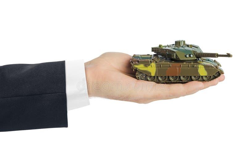 Hand met panzer stock foto