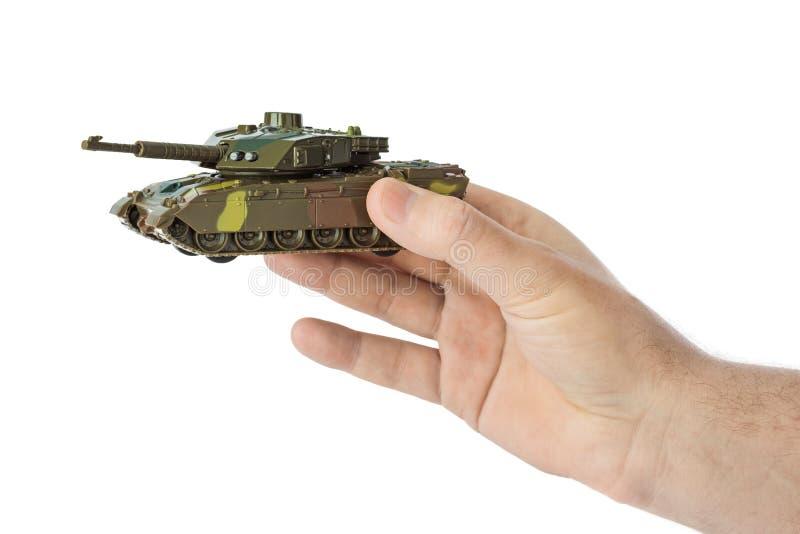 Hand met panzer stock foto's