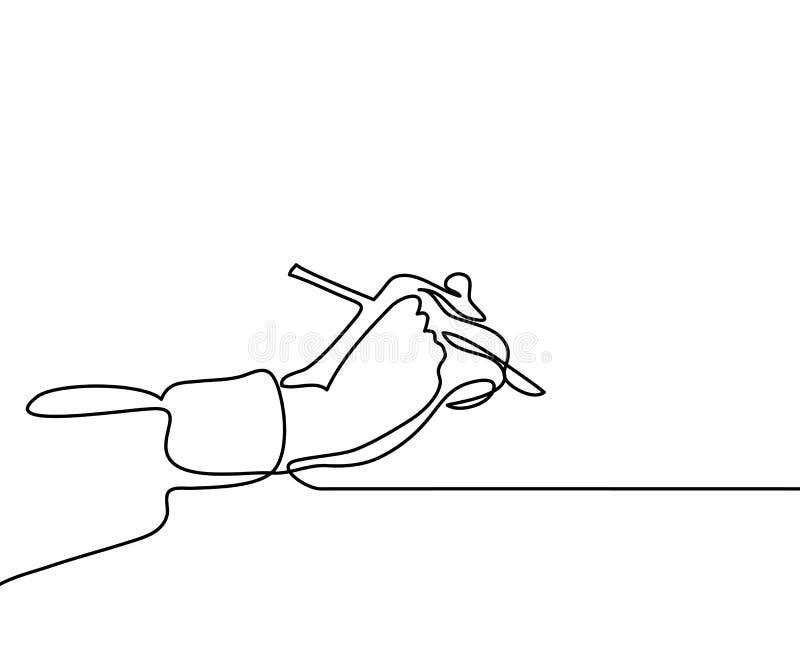 Hand met pen royalty-vrije illustratie