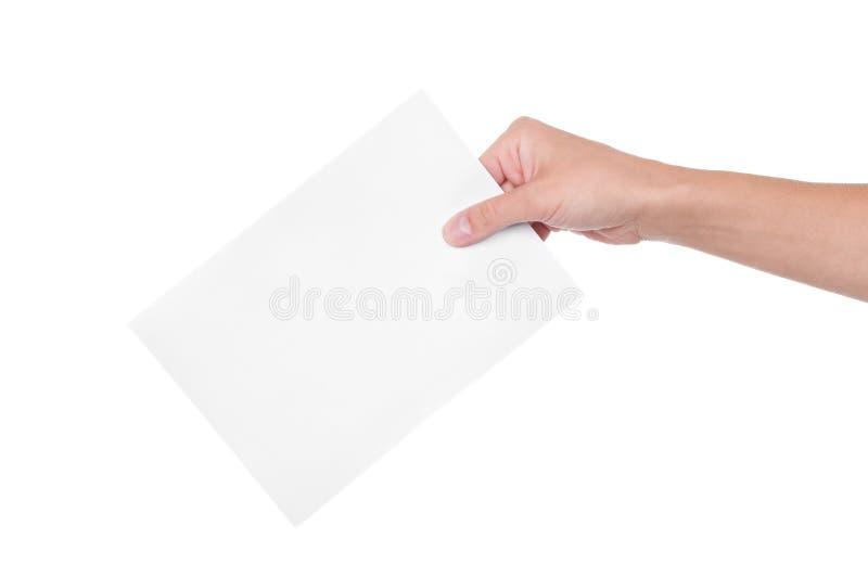 Hand met stemming stock afbeeldingen