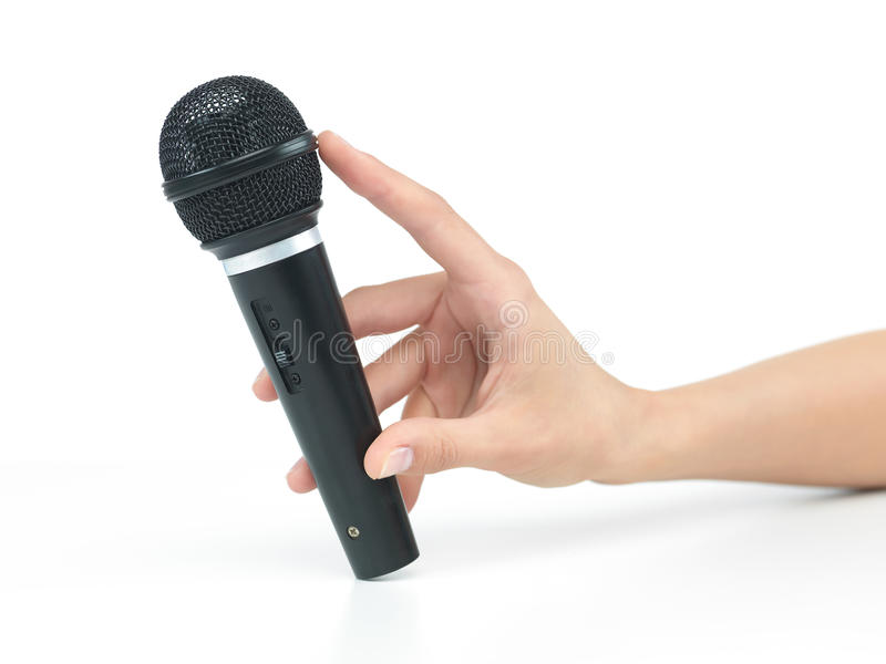 Hand Microphone Stock Images