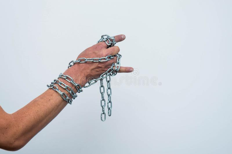 Hand mit Chain 3 stockfoto