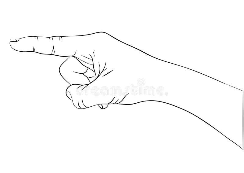 Hand mit dem Zeigefinger lizenzfreie abbildung