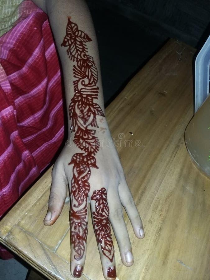 Hand mit Design stockfoto
