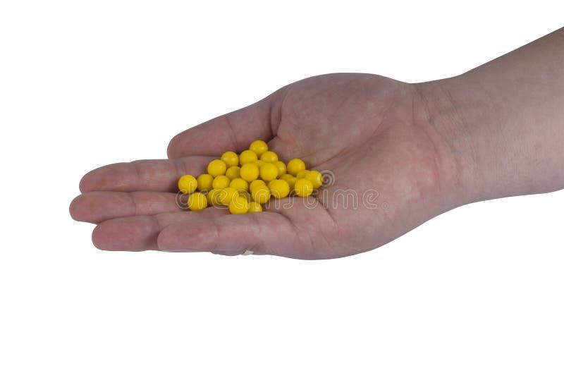 Hand mit Drogen lizenzfreies stockfoto
