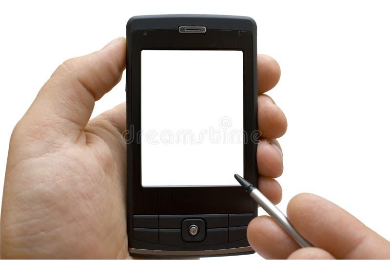 Hand mit PDA stockfoto
