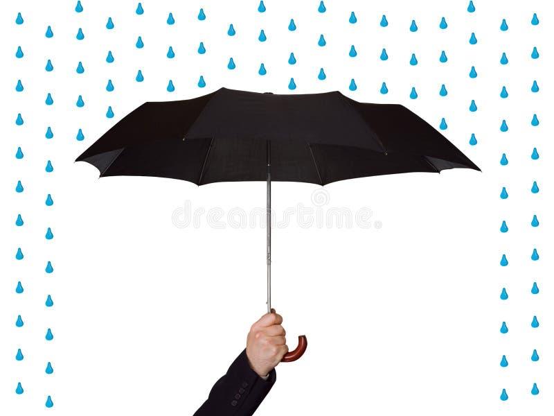Hand mit Regenschirm lizenzfreie stockbilder