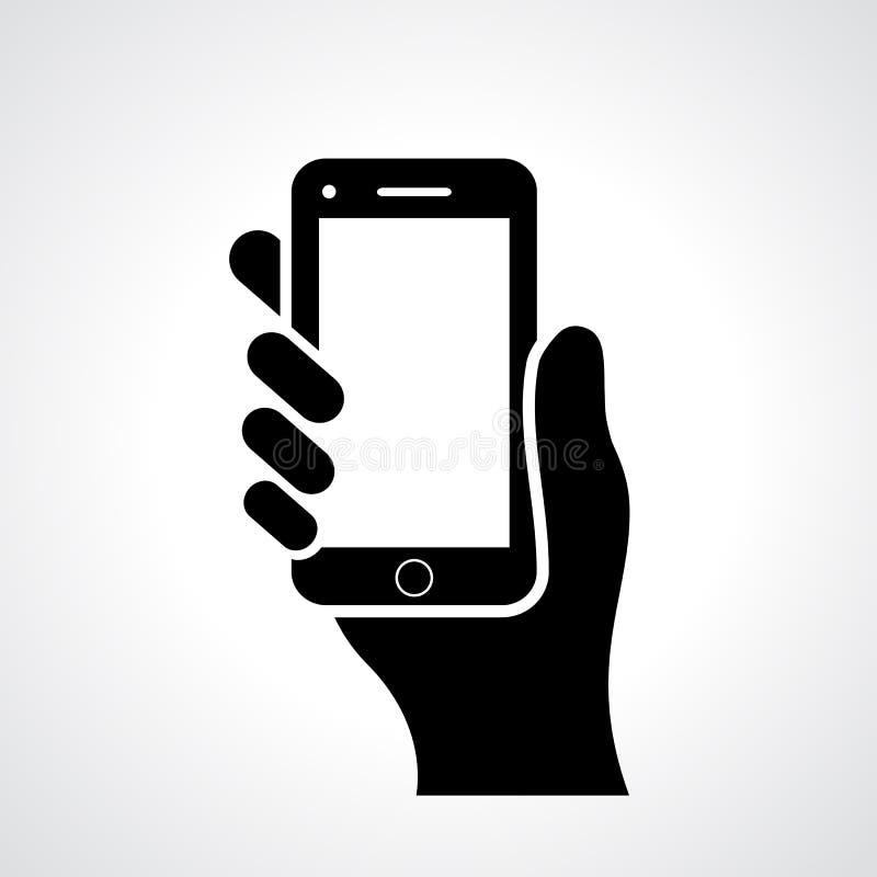 Hand mit Telefon lizenzfreie abbildung