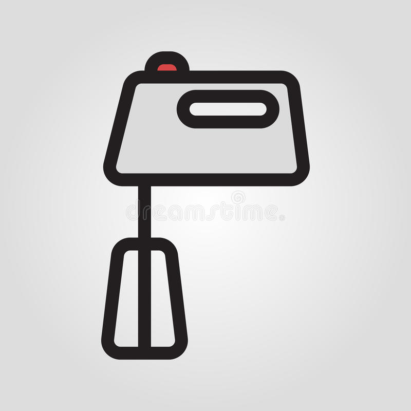 Hand mixer icon in trendy flat style isolated on grey background. Kitchen symbol for your design, logo, UI. Vector illustration stock illustration