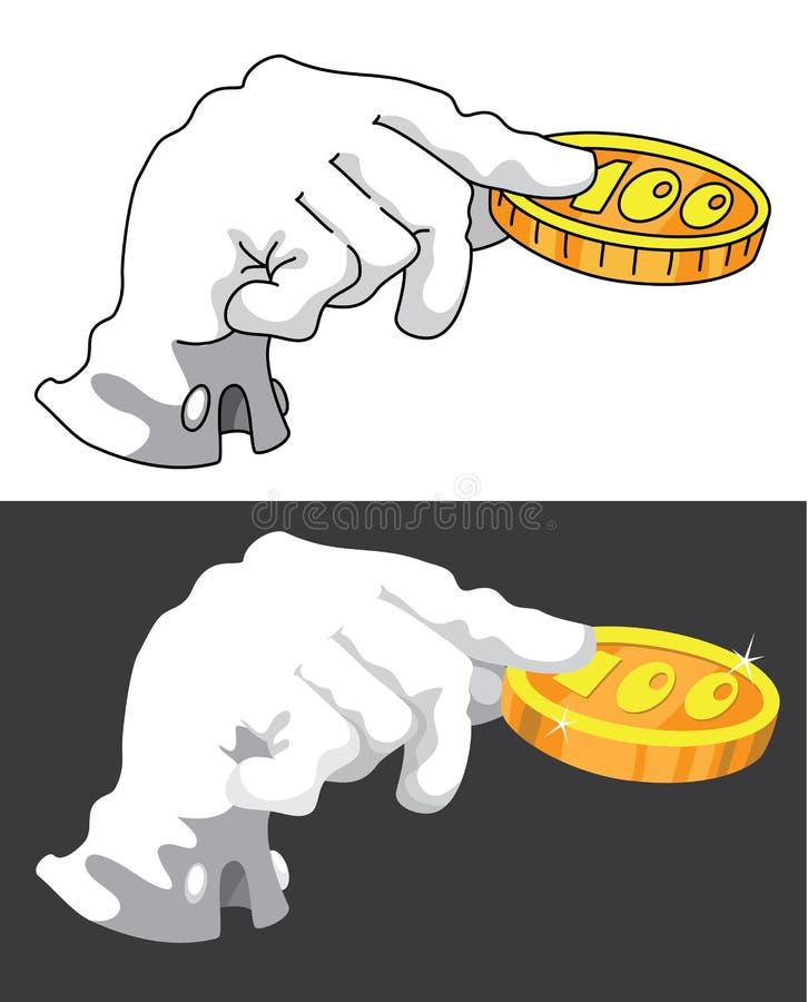 Download Hand and money stock vector. Image of finance, financier - 22387365