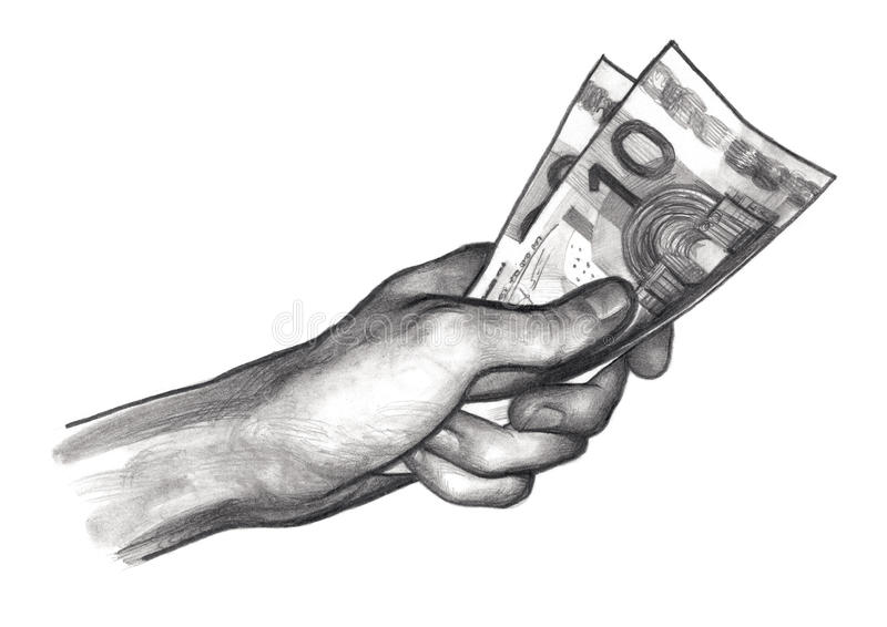 https://thumbs.dreamstime.com/b/hand-money-euros-pencil-drawing-sketch-75308680.jpg