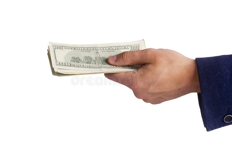 Download Hand with money stock photo. Image of person, help, isolated - 32314360