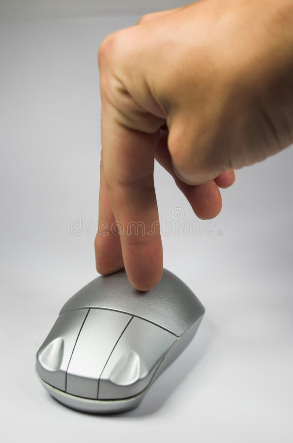 Download Hand with mouse stock image. Image of electronic, browsing - 1330753