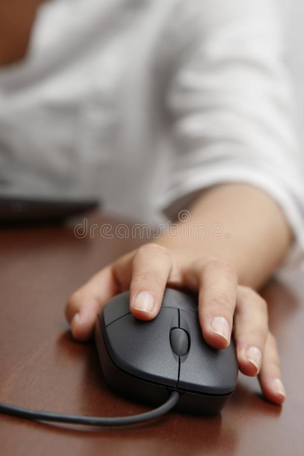 Hand and Mouse royalty free stock photography